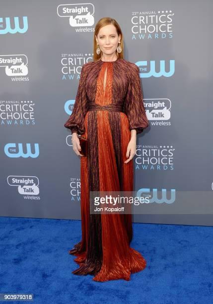 Actor Leslie Mann attends The 23rd Annual Critics' Choice Awards at Barker Hangar on January 11 2018 in Santa Monica California