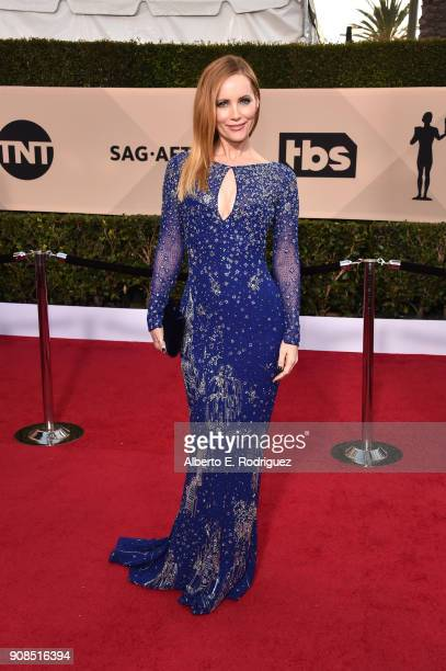NUARY 21 Actor Leslie Mann attends the 24th Annual Screen Actors Guild Awards at The Shrine Auditorium on January 21 2018 in Los Angeles California...