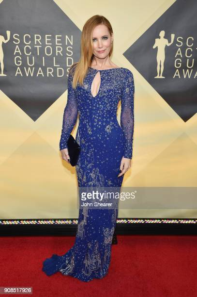 Actor Leslie Mann attends the 24th Annual Screen Actors Guild Awards at The Shrine Auditorium on January 21 2018 in Los Angeles California