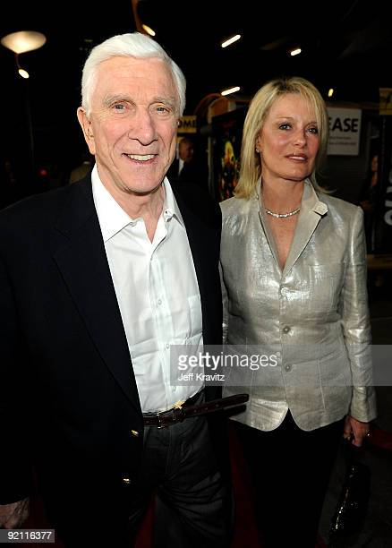 Actor Leslie Nielsen and wife Barbaree Earl Nielsen arrive at the premiere of Stan Helsing Bo Zenga's hilarious horror film parody held at ArcLight...