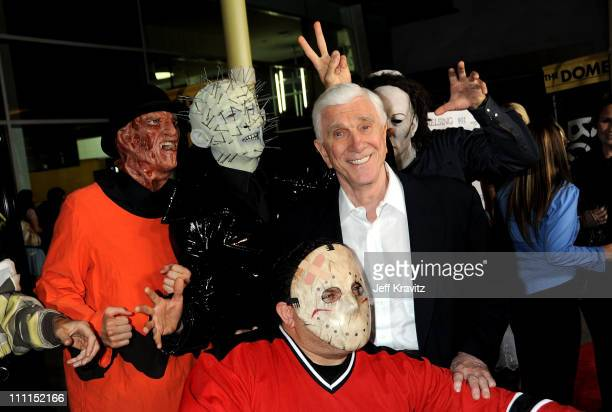 Actor Leslie Nielsen arrives at the premiere of 'Stan Helsing' Bo Zenga's hilarious horror film parody held at ArcLight Hollywood on October 20 2009...