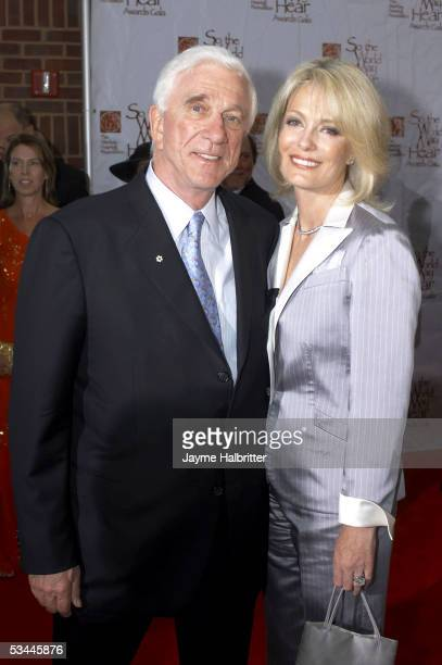 Actor Leslie Nielson and his wife Barbaree arrive at the 5th annual Starkey Foundation Gala held at the Riverview Center on August 20 2005 in St Paul...
