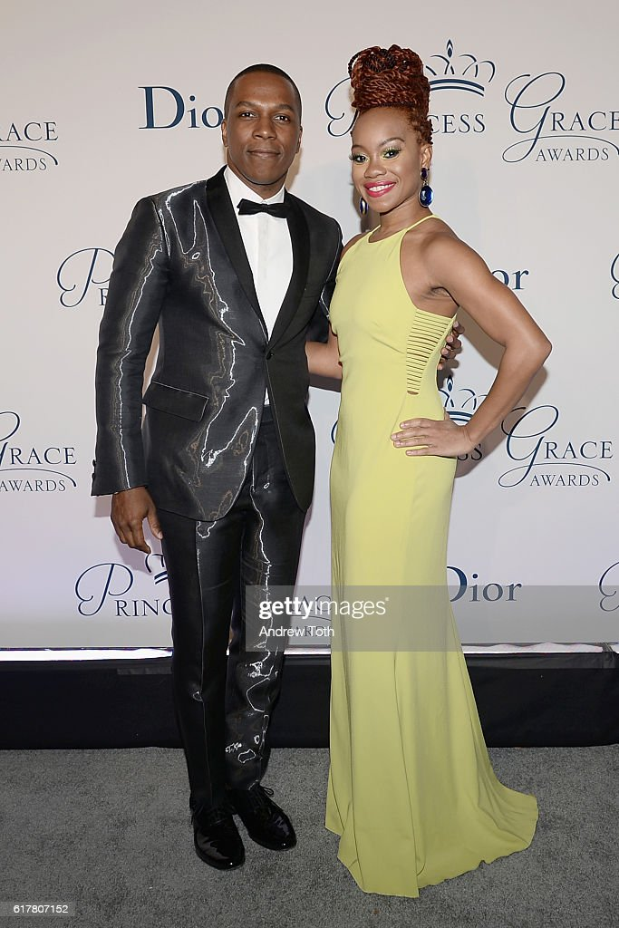 Actor Leslie Odom Jr. (L) and dancer Camille A. Brown attend the 2016 Princess Grace Awards Gala with presenting sponsor Christian Dior Couture at Cipriani 25 Broadway on October 24, 2016 in New York City.