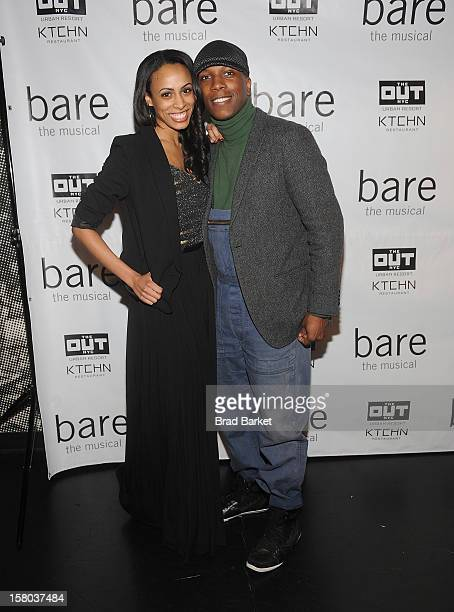 Actor Leslie Odom Jr and Nicolette Robinson attend BARE The Musical Opening Night at New World Stages on December 9 2012 in New York City