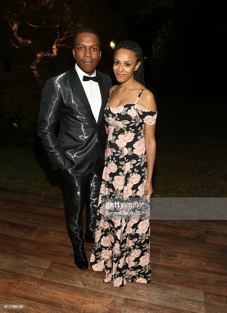 Actor Leslie Odom Jr. and wife Nicolette Robinson attends BET's 'An Obama Celebration' at The White House on October 21, 2016 in Washington, DC.