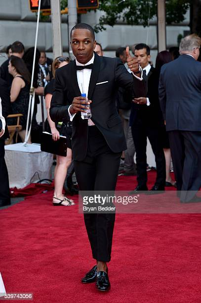 Actor Leslie Odom Jr arrives at FIJI Water at 2016 Tony Awards at The Beacon Theatre on June 12 2016 in New York City