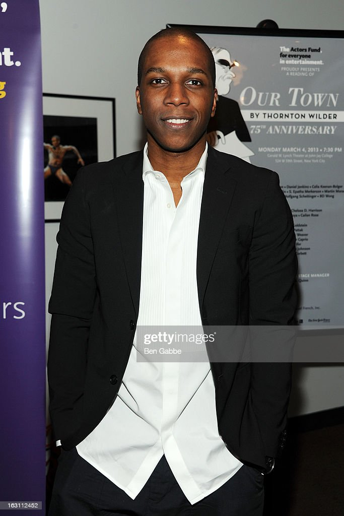 Actor Leslie Odom Jr. attends 'Our Town' Benefit Performance at the Gerald W. Lynch Theatre on March 4, 2013 in New York City.