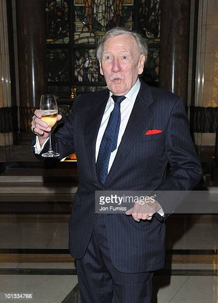 Actor Leslie Phillips attends the Quintessentially Awards at Freemasons Hall on June 1 2010 in London England