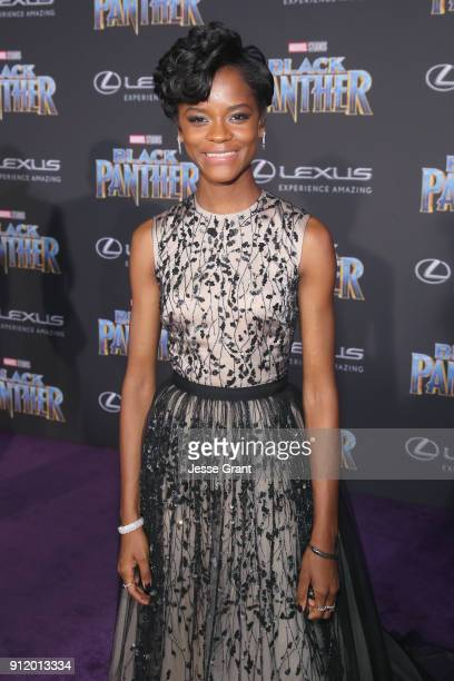 Actor Letitia Wright at the Los Angeles World Premiere of Marvel Studios' BLACK PANTHER at Dolby Theatre on January 29 2018 in Hollywood California