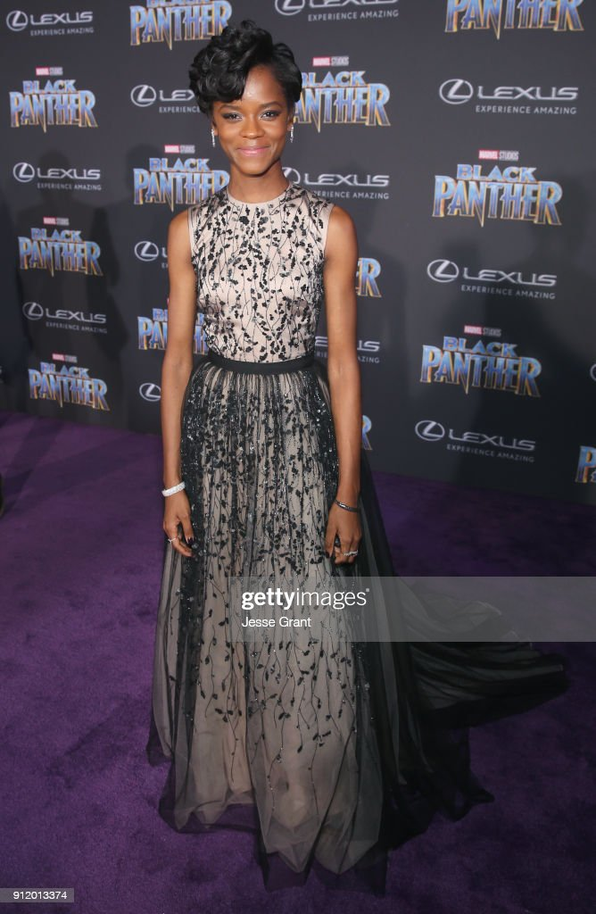 Actor Letitia Wright at the Los Angeles World Premiere of Marvel Studios' BLACK PANTHER at Dolby Theatre on January 29, 2018 in Hollywood, California.
