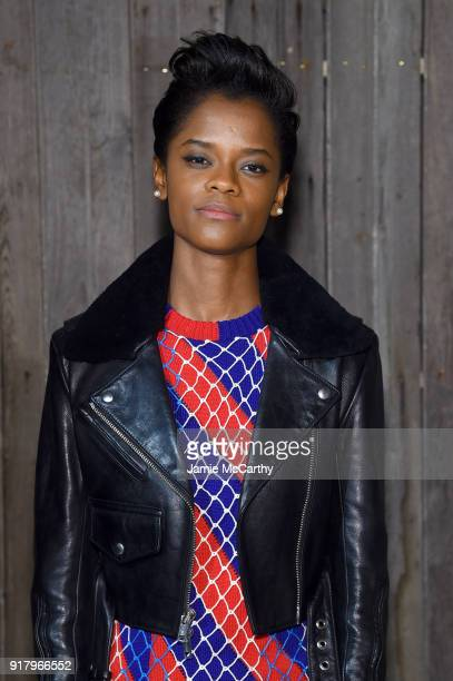 Actor Letitia Wright attends the Calvin Klein Collection during New York Fashion Week at New York Stock Exchange on February 13 2018 in New York City