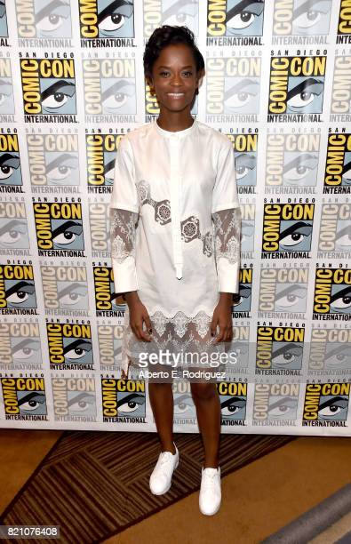 Actor Letitia Wright from Marvel Studios' 'Black Panther' at the San Diego ComicCon International 2017 Marvel Studios Panel in Hall H on July 22 2017...