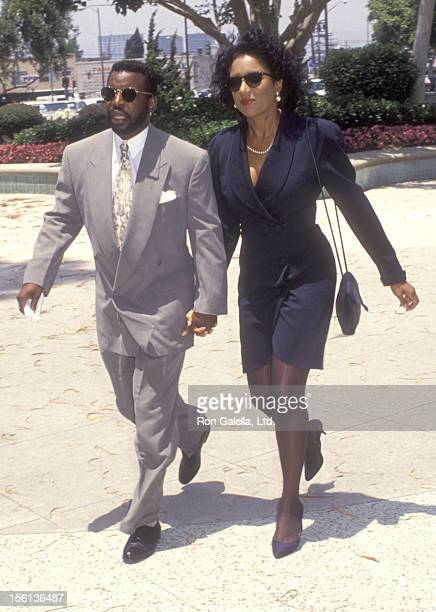 Actor LeVar Burton and girlfriend Stephanie Cozart attend the Wedding of Marina Sirtis and Michael Lamper on June 21 1992 at Saint Sophia Greek...