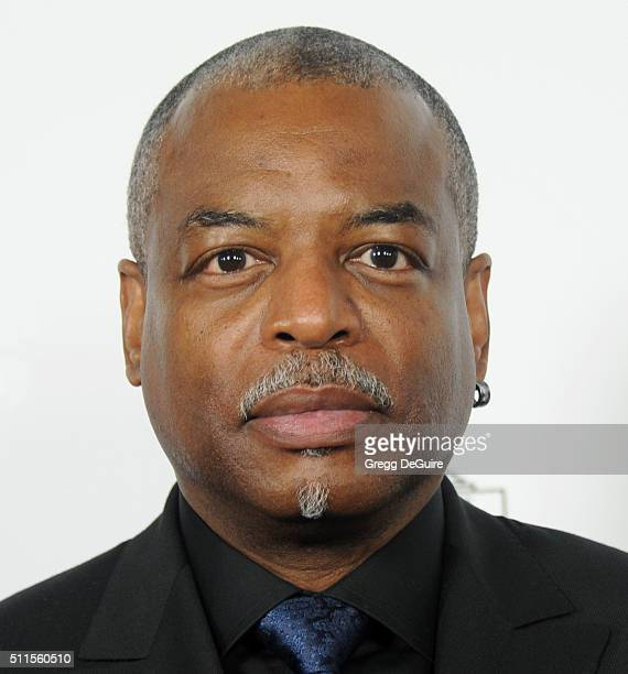 Actor LeVar Burton arrives at the MakeUp Artists And Hair Stylists Guild Awards at Paramount Studios on February 20 2016 in Hollywood California
