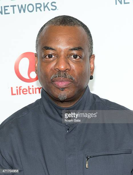 Actor LeVar Burton attends the 2015 AE Network Upfront at Park Avenue Armory on April 30 2015 in New York City