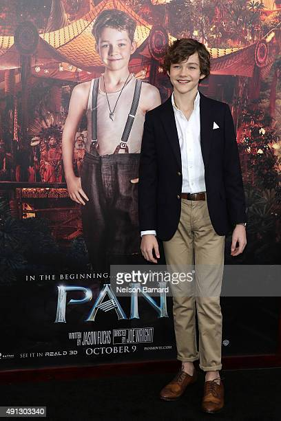 Actor Levi Miller attends 'Pan' premiere at Ziegfeld Theater on October 4 2015 in New York City
