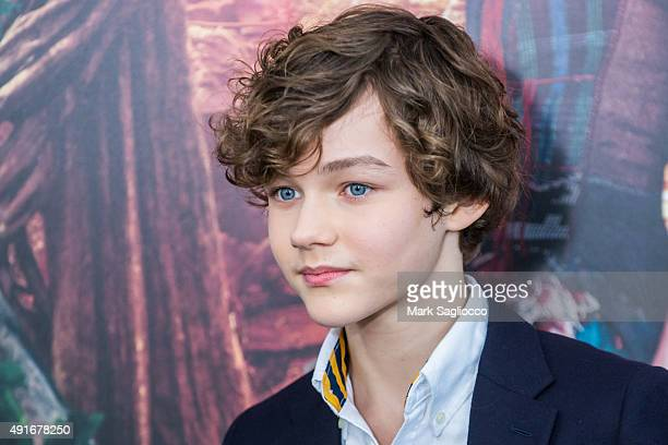 Actor Levi Miller attends the 'Pan' New York Premiere at the Ziegfeld Theater on October 4 2015 in New York City