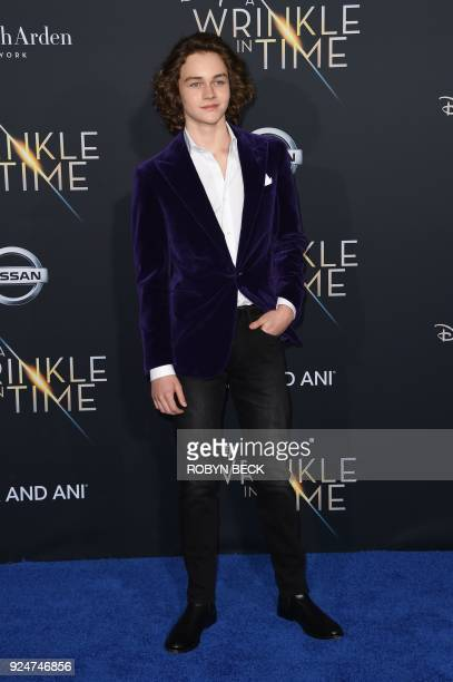 Actor Levi Miller attends the premiere of Disney's 'A Wrinkle in Time' on February 26 at the El Capitan Theatre in Hollywood California / AFP PHOTO /...