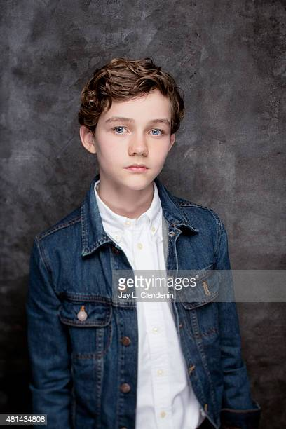 Actor Levi Miller of 'Pan' poses for a portrait at ComicCon International 2015 for Los Angeles Times on July 9 2015 in San Diego California PUBLISHED...