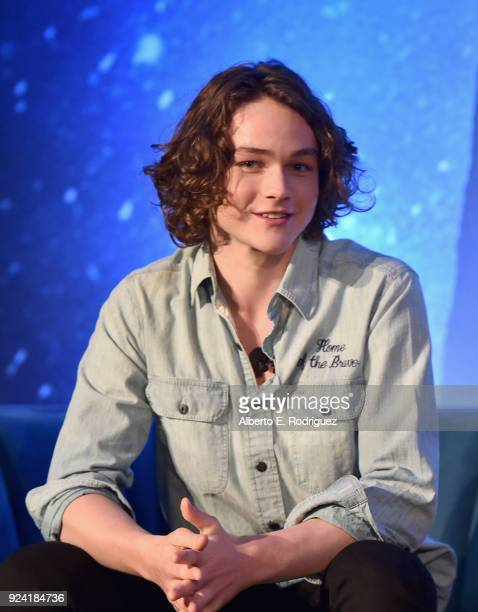 Actor Levi Miller participates in the press conference for Disney's 'A Wrinkle in Time' in Hollywood CA on March 25 2018