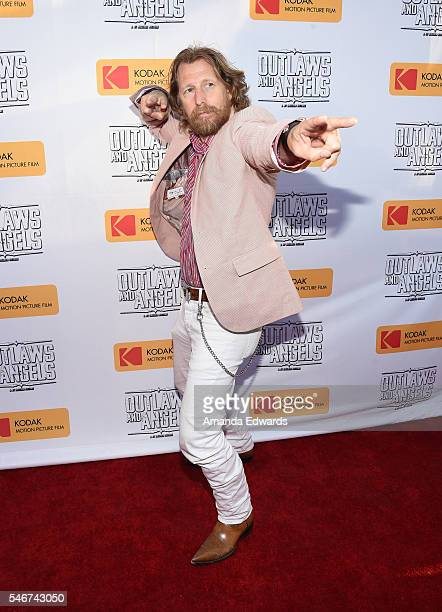 Actor Lew Temple arrives at the premiere of Momentum Pictures' 'Outlaws and Angels' at the Ahrya Fine Arts Movie Theater on July 12 2016 in Beverly...