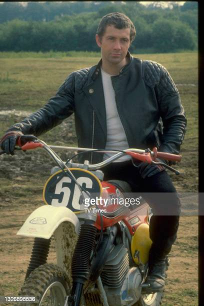 Actor Lewis Collins in character as William Bodie in action/adventure series The Professionals, circa 1980.