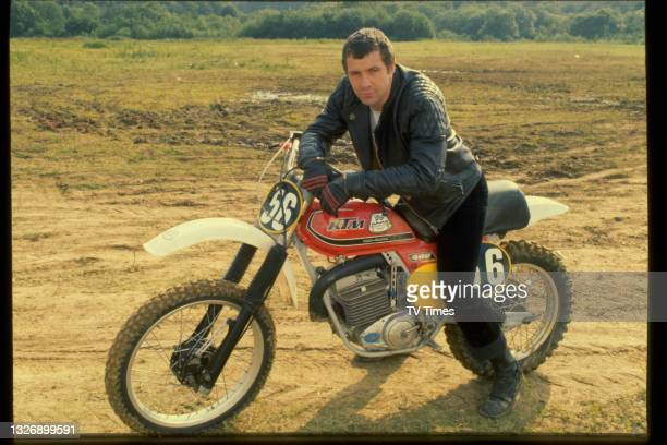 Actor Lewis Collins in character as William Bodie in action/adventure series The Professionals, circa 1979.