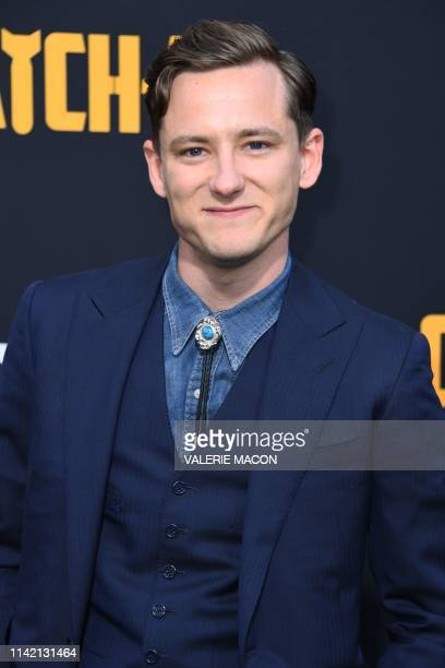 US actor Lewis Pullman arrives to the premiere of Catch22 at the TCL Chinese Theatre in Hollywood California on May 7 2019