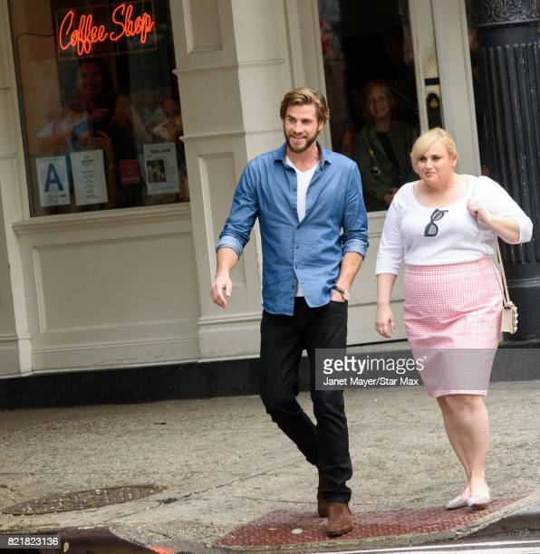 Actor Liam Hemsworth and Rebel Wilson are seen on July 24 2017 in New York City