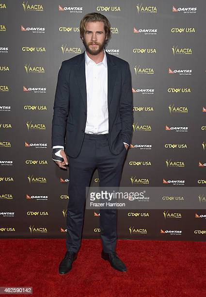 Actor Liam Hemsworth arrives at the 2015 G'Day USA Gala Featuring The AACTA International Awards Presented By QANTAS at the Hollywood Palladium on...