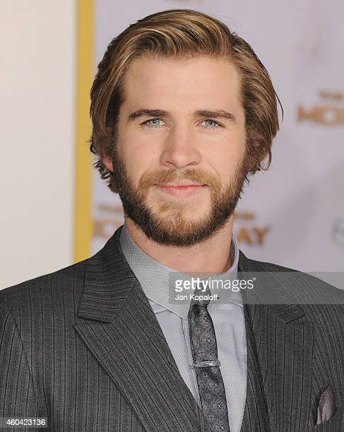 Actor Liam Hemsworth arrives at the Los Angele Premiere 'The Hunger Games Mockingjay Part 1' at Nokia Theatre LA Live on November 17 2014 in Los...