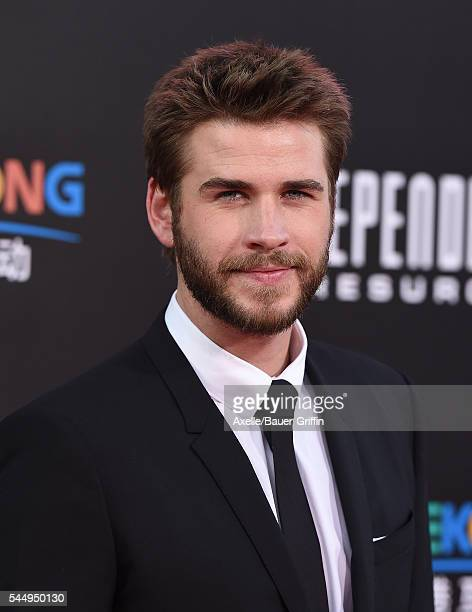 Actor Liam Hemsworth arrives at the premiere of 20th Century Fox's 'Independence Day Resurgence' at TCL Chinese Theatre on June 20 2016 in Hollywood...