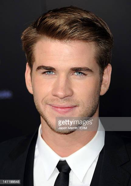 """Actor Liam Hemsworth arrives at the premiere of Lionsgate's """"The Hunger Games"""" at Nokia Theatre L.A. Live on March 12, 2012 in Los Angeles,..."""
