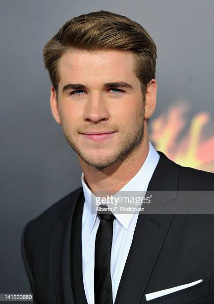 """Actor Liam Hemsworth arrives to the premiere of Lionsgate's """"The Hunger Games"""" at Nokia Theatre L.A. Live on March 12, 2012 in Los Angeles,..."""