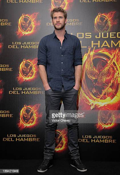 Actor Liam Hemsworth attends a photocall and press conference to promote the new film The Hunger Games at the St Regis Hotel on February 16 2012 in...