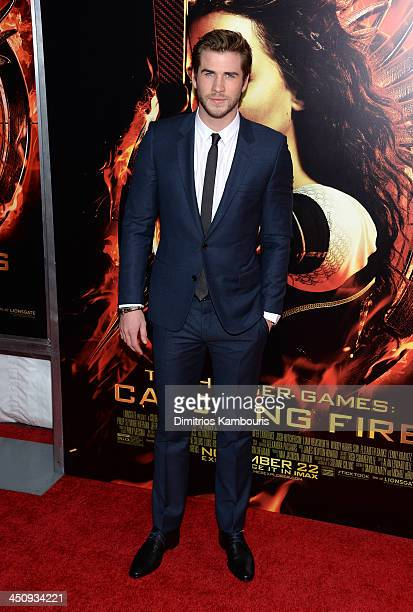 """Actor Liam Hemsworth attends a special screening of """"The Hunger Games: Catching Fire"""" on November 20, 2013 in New York City."""