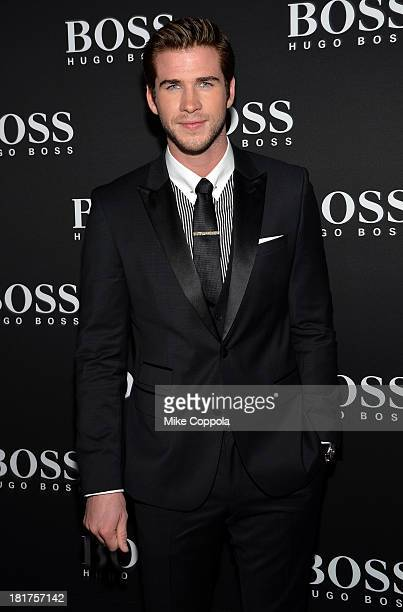 Actor Liam Hemsworth attends HUGO BOSS celebrates Columbus Circle BOSS flagship opening featuring premiere of 'Anthropocene' by Marco Brambilla on...