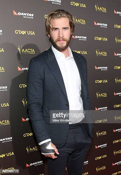 Actor Liam Hemsworth attends the 2015 G'Day USA GALA featuring the AACTA International Awards presented by QANTAS at Hollywood Palladium on January...