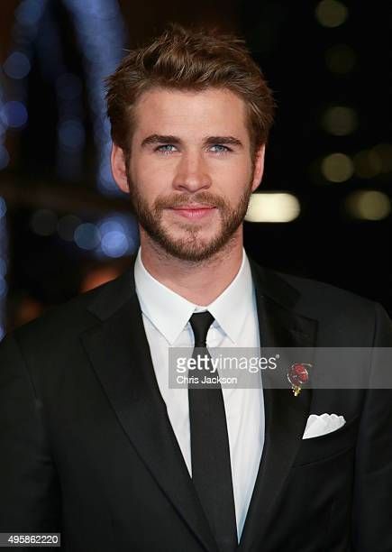 Actor Liam Hemsworth attends The Hunger Games Mockingjay Part 2 UK Premiere at the Odeon Leicester Square on November 5 2015 in London England