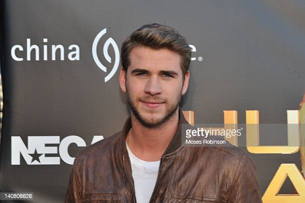 Actor Liam Hemsworth attends The Hunger Games National Mall tour fan event at Lenox Square on March 6 2012 in Atlanta Georgia