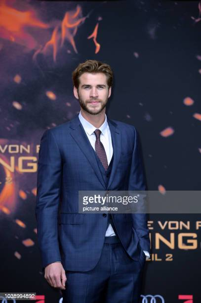 Actor Liam Hemsworth attends the premiere of the film 'The Hunger Games Mockingjay Part 2' in Berlin Germany 4 November 2015 Photo Britta...