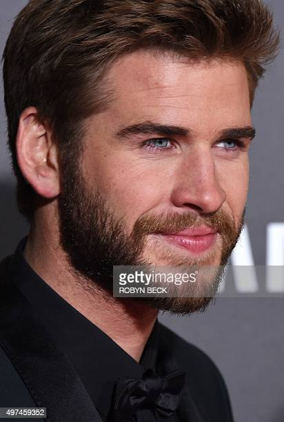"""Actor Liam Hemsworth attends the premiere of """"The Hunger Games: Mockingjay - Part 2"""" at the Microsoft Theater in Los Angeles, California, November..."""