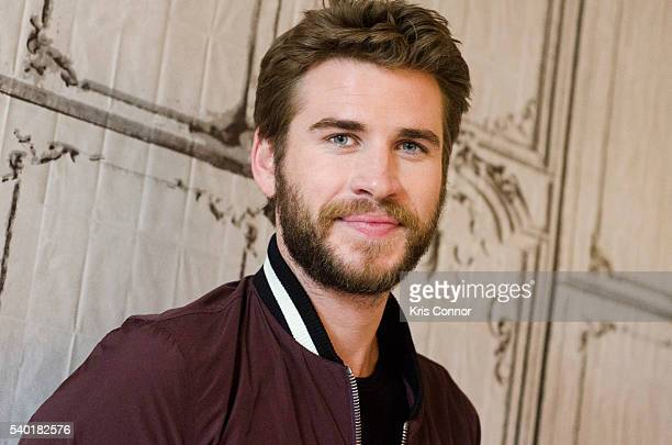Actor Liam Hemsworth poses for photos before Independence Day Resurgence speaking during the AOL Build Speaker Series at AOL Studios on June 14 2016...