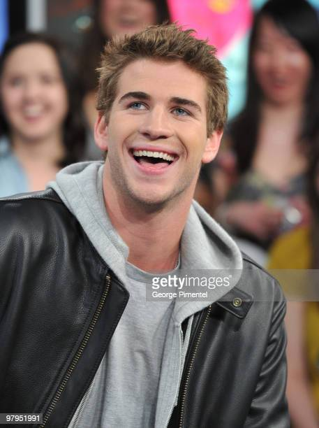 Actor Liam Hemsworth visits MuchOnDemand to promote his movie The Last Song at the MuchMusic HQ on March 22 2010 in Toronto Canada