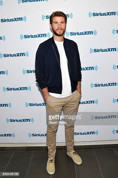 Actor Liam Hemsworth visits SiriusXM to promote 'Independence Day Resurgence at SiriusXM Studios on June 15 2016 in New York City
