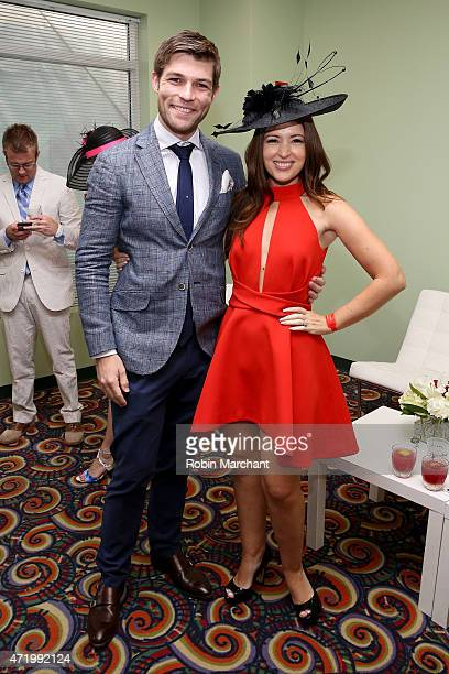 Actor Liam McIntyre and Erin McIntyre attend the 141st Kentucky Derby at Churchill Downs on May 2 2015 in Louisville Kentucky