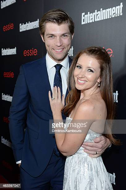 Actor Liam McIntyre and singer Erin Hasan attend the Entertainment Weekly celebration honoring this year's SAG Awards nominees sponsored by TNT TBS...
