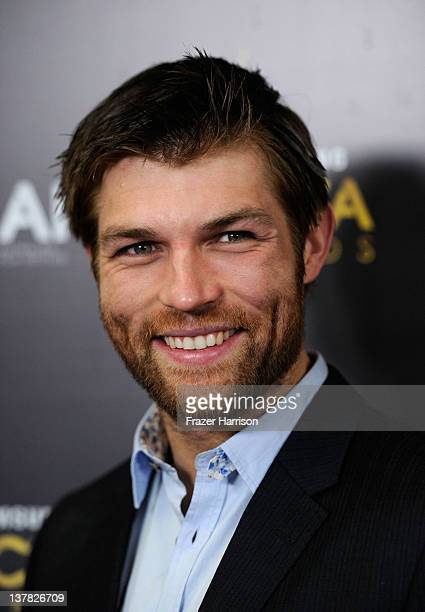 Actor Liam McIntyre arrives at the Australian Academy Of Cinema And Television Arts' 1st Annual Awards at Soho House on January 27 2012 in West...