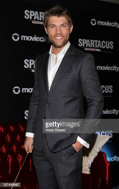 Actor Liam McIntyre attends a photocall and press conference to promote the new season of Spartacus Vengeance at W Hotel Mexico City on January 20...