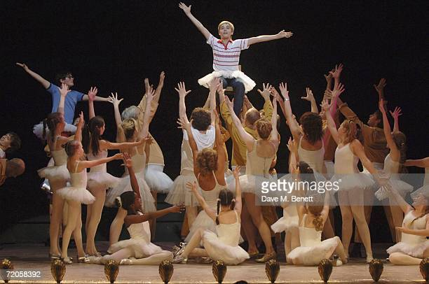 Actor Liam Mower takes part in his last performance on stage in the musical 'Billy Elliot' at the Victoria Palace Theatre on September 30 2006